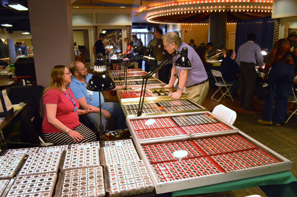 Dealers at the gold and silver coin show