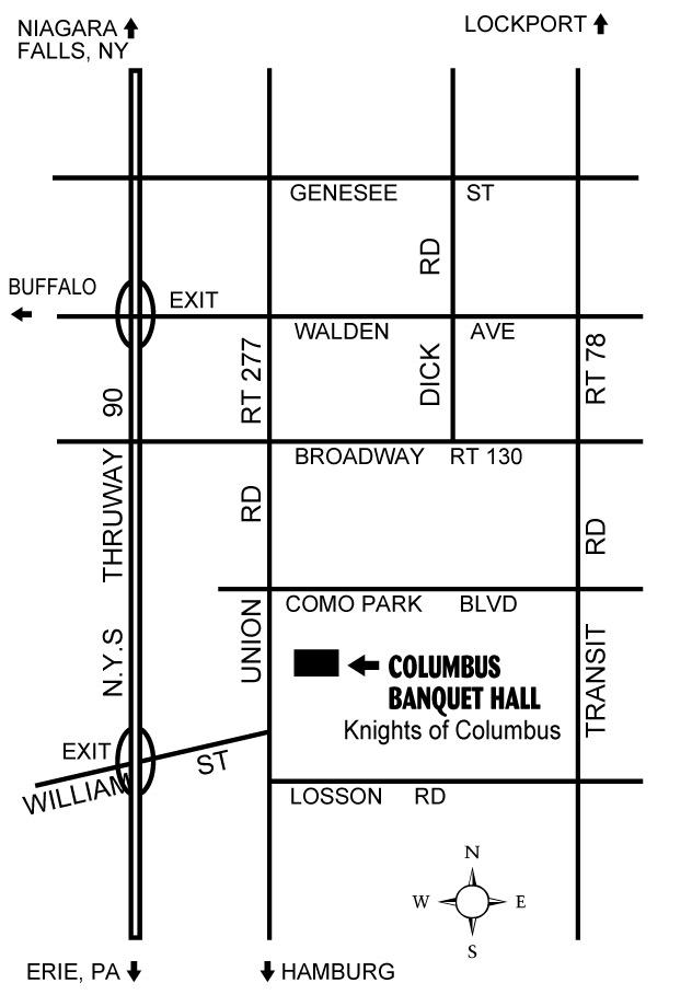 The Knights in The Columbus Banquet Hall 2735 Union Rd. Cheektowaga, NY 14227-2211